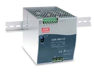 MEAN WELL SDR Series of 75-960 Watt AC-DC DIN Rail Power Supplies