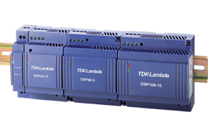 TDK-Lambda DSP Series of 7.5-100 Watt AC-DC, DIN Rail Power Supplies