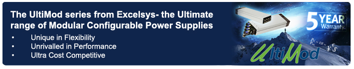 Excelsys UltiMod Series of Modular Configurable Power Supplies