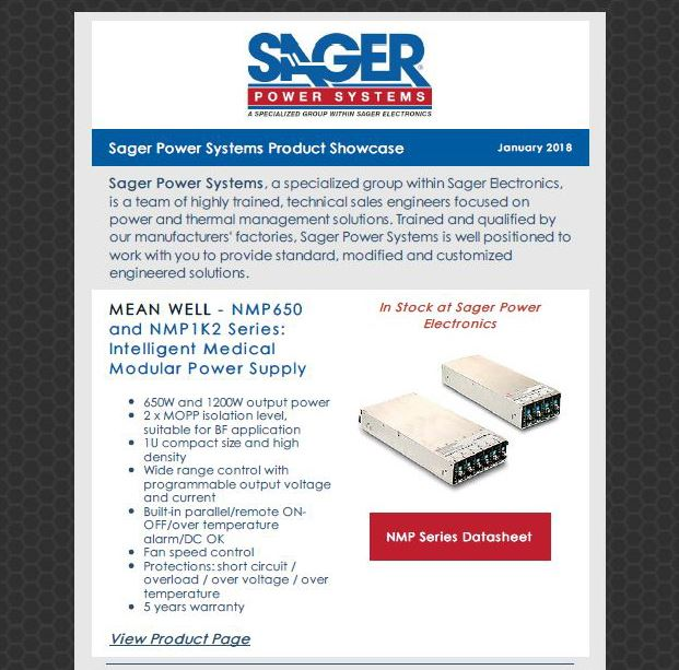 Sager Power January Product Showcase
