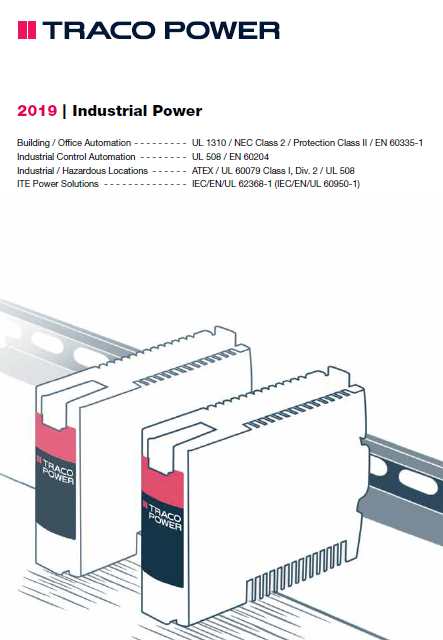TRACO Industrial Power Brochure | TRACO Power Distributor