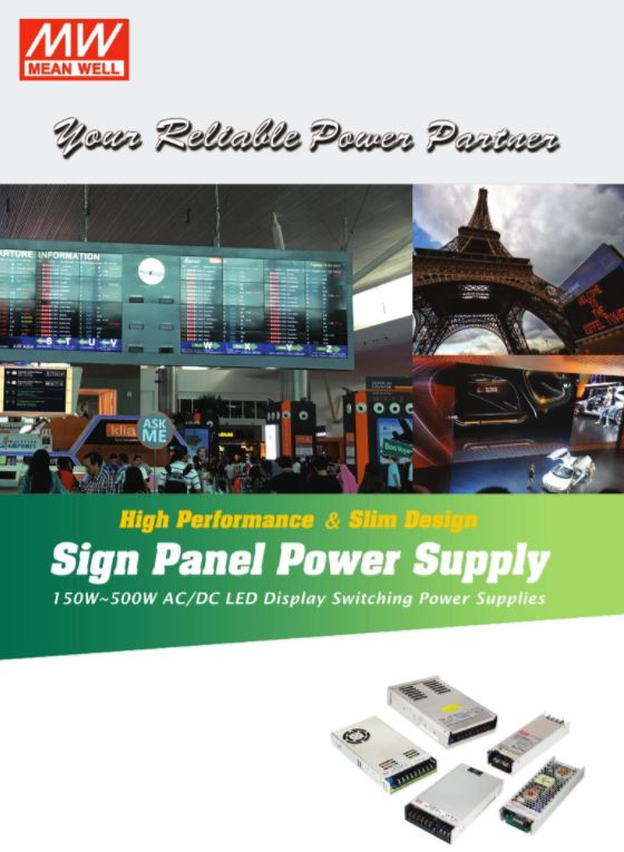 Click here to view Sign Panel Power Supply e-catalog