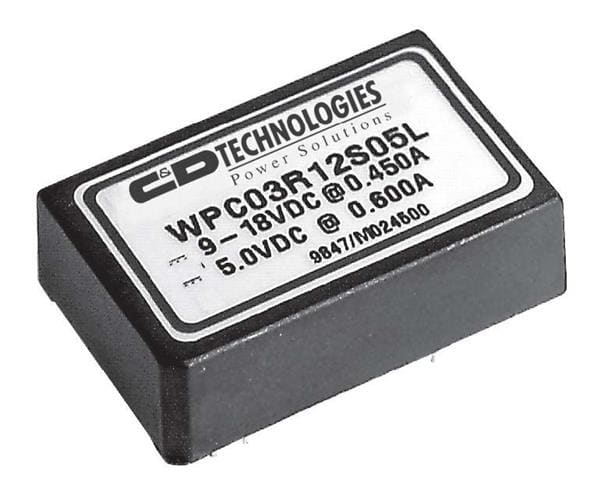 WPC03R48S15 Murata Power Solutions 3 W, 34 -72 VDC Vin, Single Output, 15 VDC@0.2 A  DC-DC Converter
