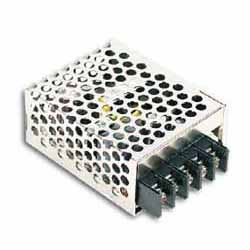 RS-15-5 MEAN WELL 15 W, SINGLE OUTPUT, 5 V@3 A INDUSTRIAL ENCLOSED AC-DC POWER SUPPLY