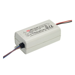 APV-12-24 MEAN WELL 12 W, SINGLE OUTPUT, 24 V@0.5 A LED LIGHTING PLASTIC AC-DC POWER SUPPLY