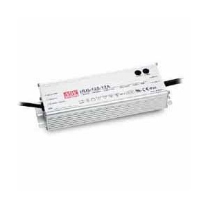 HLG-120H-24 MEAN WELL 120 W, SINGLE OUTPUT, 12-24 V@5 A LED LIGHTING METAL AC-DC POWER SUPPLY