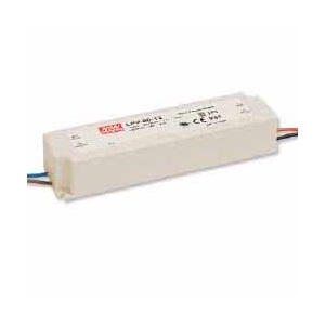 LPV-60-24 MEAN WELL 60 W, SINGLE OUTPUT, 24 V@2.5 A LED LIGHTING PLASTIC AC-DC POWER SUPPLY