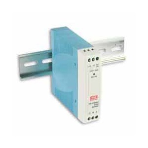 MDR-20-24 MEAN WELL 20 W, SINGLE OUTPUT, 24 V@1 A INDUSTRIAL PLASTIC AC-DC POWER SUPPLY