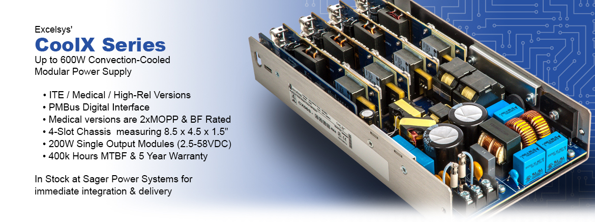 Excelsys CoolX Series Convection-cooled Modular Power Supply